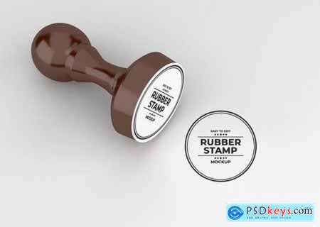 Rounded rubber stamp logo mockup
