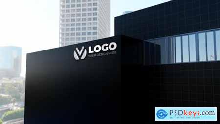 Realistic building company logo mockup