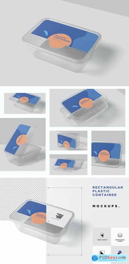 Rectangle Plastic Container Mockups