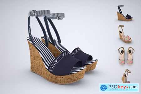 Wedge Heel Sandals Mock-up