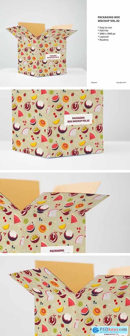 Packaging Box Mockup Vol.02