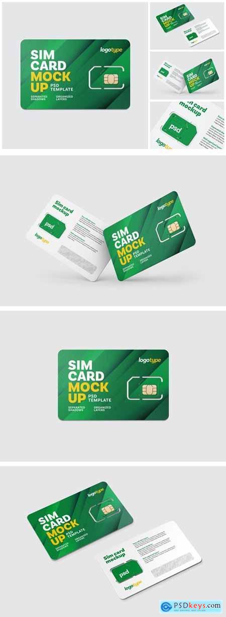 Sim Card Mockup Set
