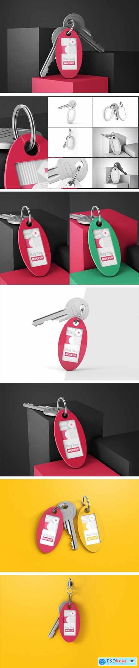Oval Key Tag Mockup