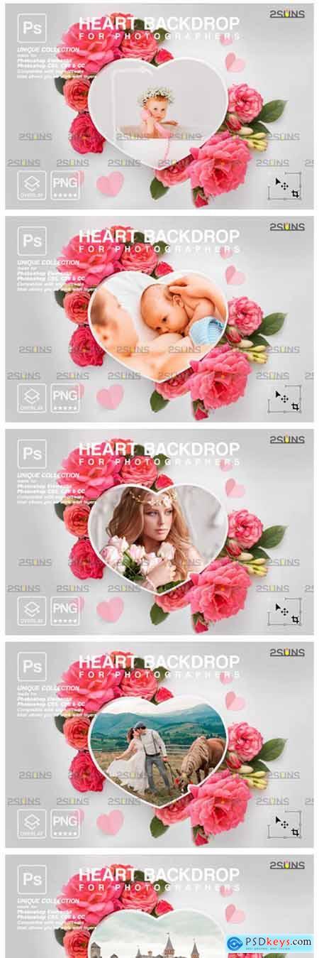Heart Flower Digital Frames Overlay 8561508