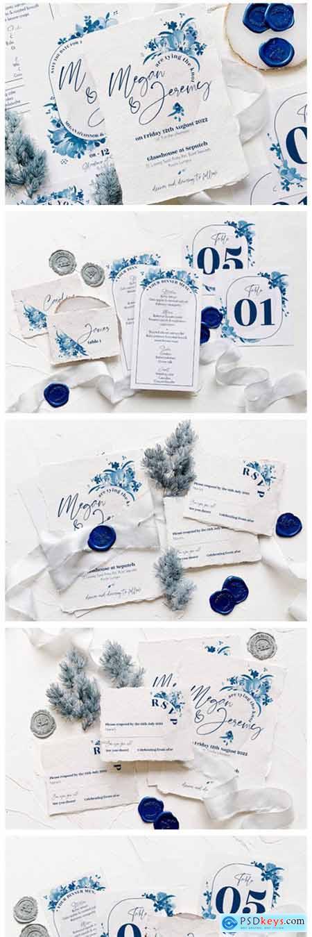 Elegant Delft Blue Wedding Suite 8947448