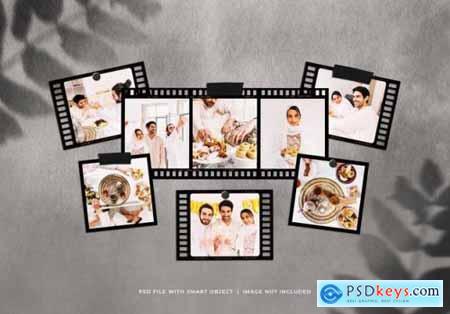 Vintage photo frames mockup