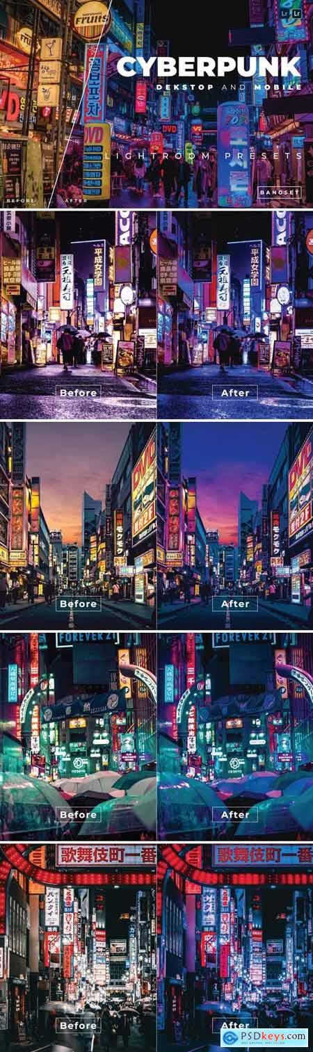 Cyberpunk Desktop and Mobile Lightroom Preset