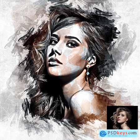Drawing Paint Photoshop Action 31259536