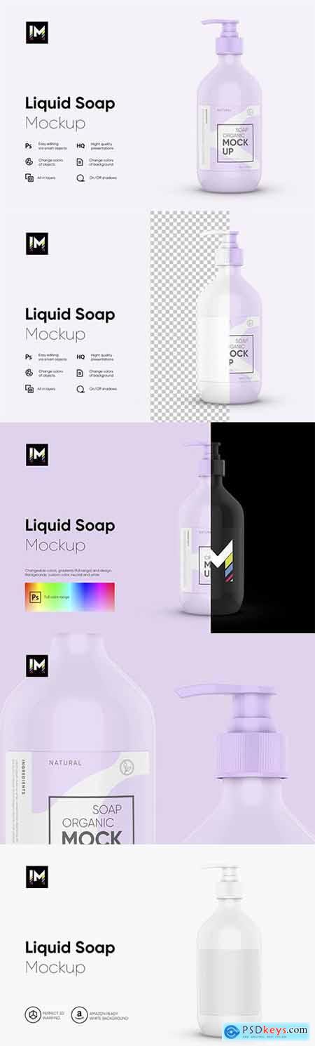 Liquid Soap Bottle Mockup 5892094