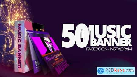 50 Music Banners Ad 31880883