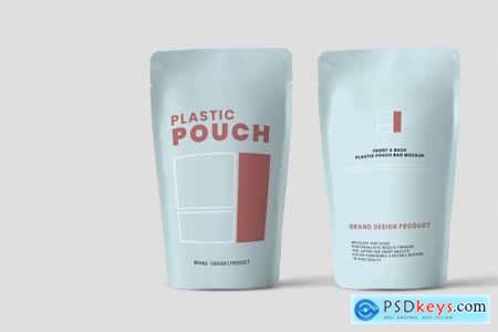 Pouch mockup with white background