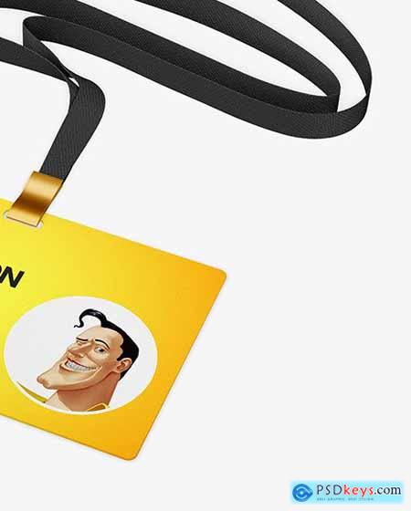 Horizontal ID Card Mockup 80305