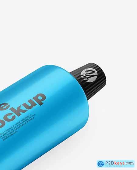 Glossy Metallic Cosmetic Tube Mockup 82357