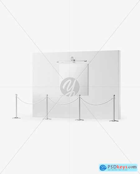 Canvas Picture on the Wall Mockup 82036