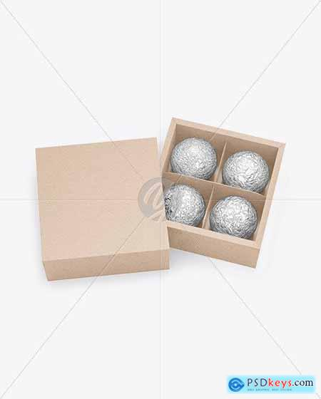 Kraft Paper Box of Chocolate Sweets Mocup 82236