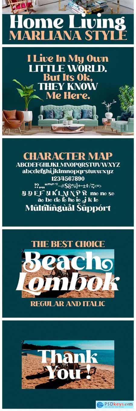 Beach Lombok Font