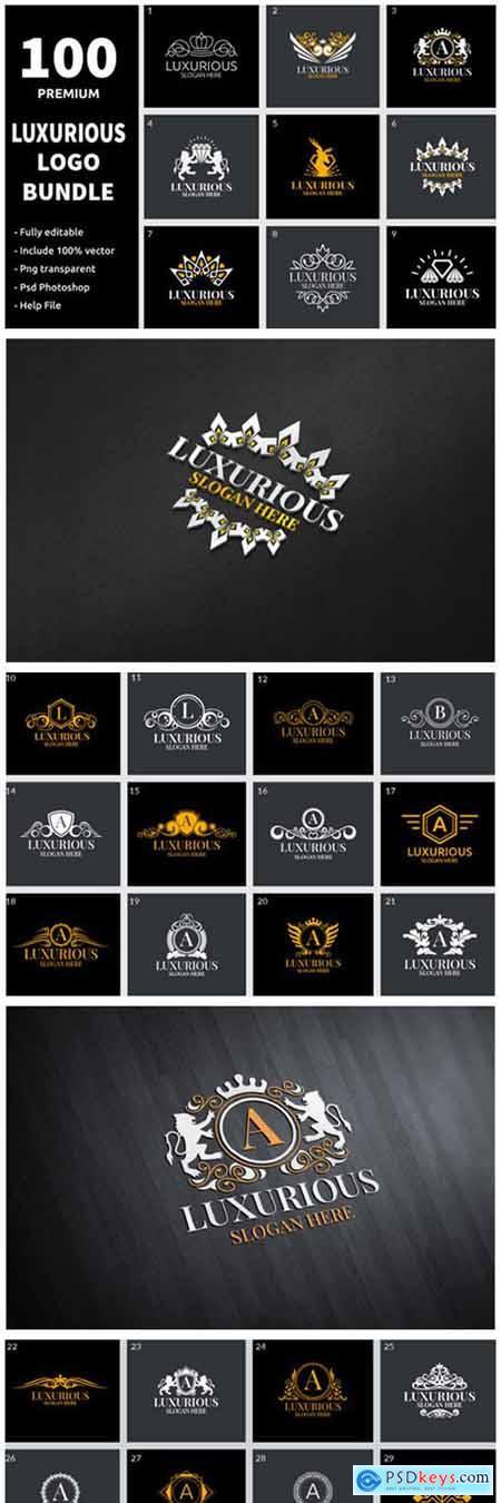 100 Luxurious Logo Bundle 7212231