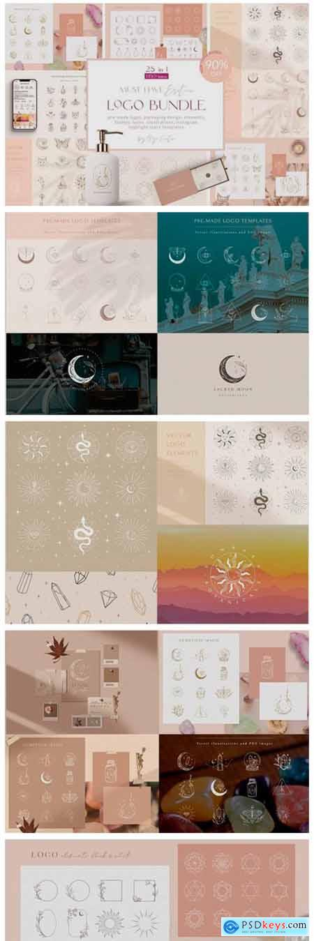 Logo Bundle ~ Mystic Designs