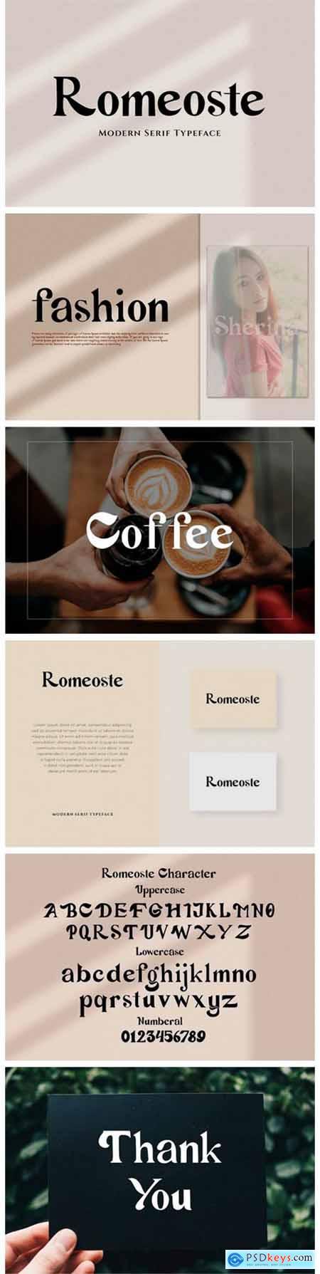 Romeoste Font
