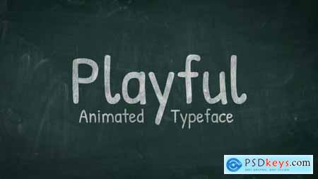 Playful - Animated Handwriting Typeface 31858812