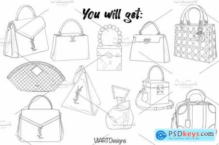 Fashion bags & purses stamps Procreate 5915833