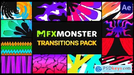 Stylish Colorful Transitions - After Effects 30525863