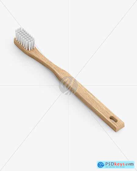 Wooden Toothbrush Mockup 78532