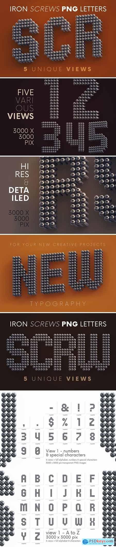 Iron Screws - 3D Lettering