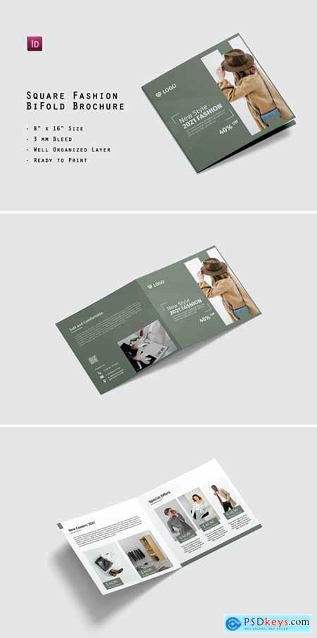 Square Fashion BiFold Brochure