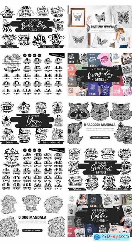 Spectacular Collection Big Bundle- 500 Premium Fonts + 1309 Premium Graphics