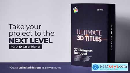 Ultimate 3D Titles for FCPX 31272557