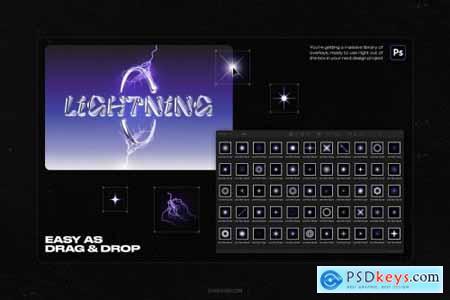 Lightning bolts & lens flares bundle 6119414