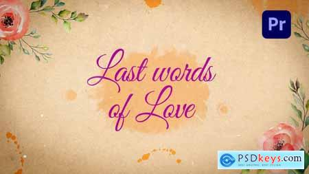 Last Words of Love Beautiful Title Sequence MOGRT 31924447
