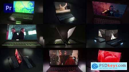 Dark Laptop Mockup 31995438