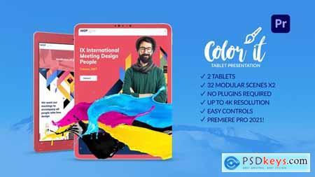 Color it Tablet Presentation for Premiere Pro 31823039