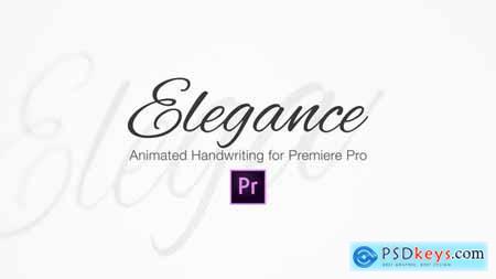 Elegance Animated Handwriting Typeface 22619712