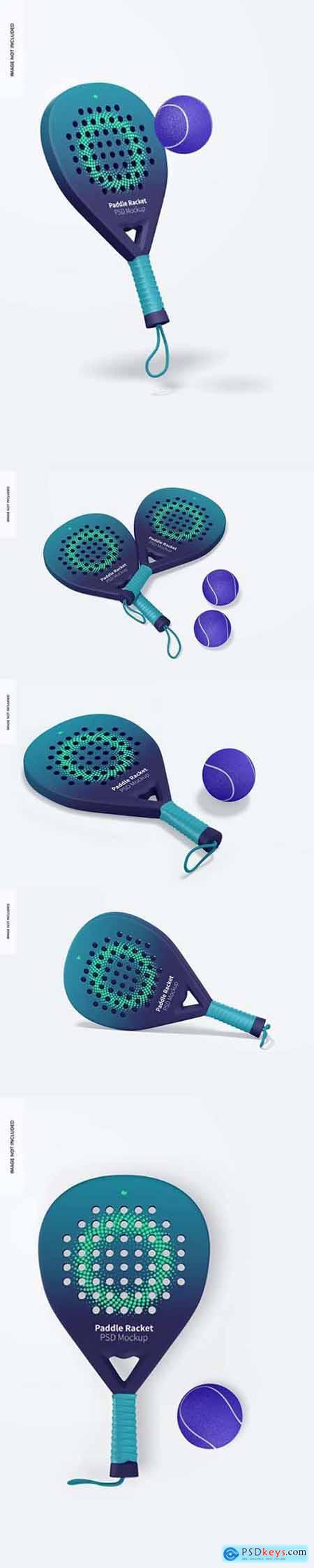 Paddle rackets mockup