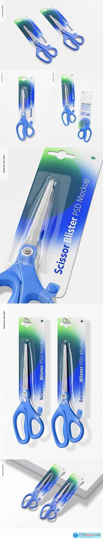 Scissors blisters mockup