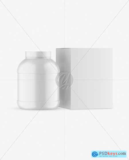 Matte Plastic Jar with Box Mockup 82894