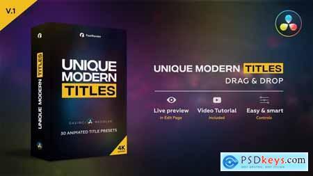 Unique Modern Titles 29935530
