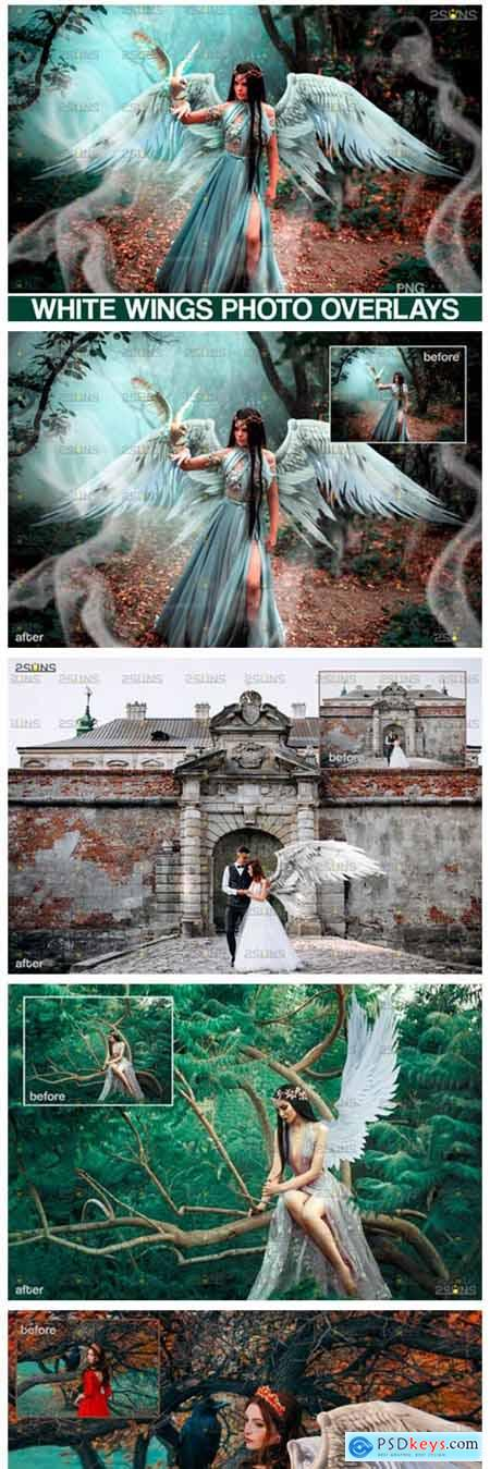 Realistic White Angel Wings Photoshop 4249899