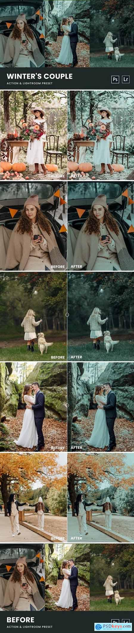 Winters Couple Photoshop Action & Lightrom Preset