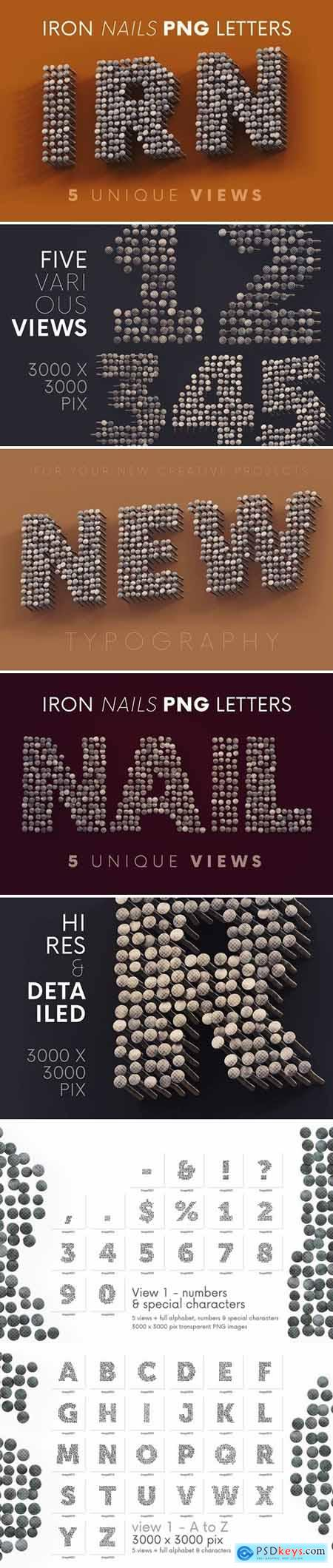 Iron Nails - 3D Lettering