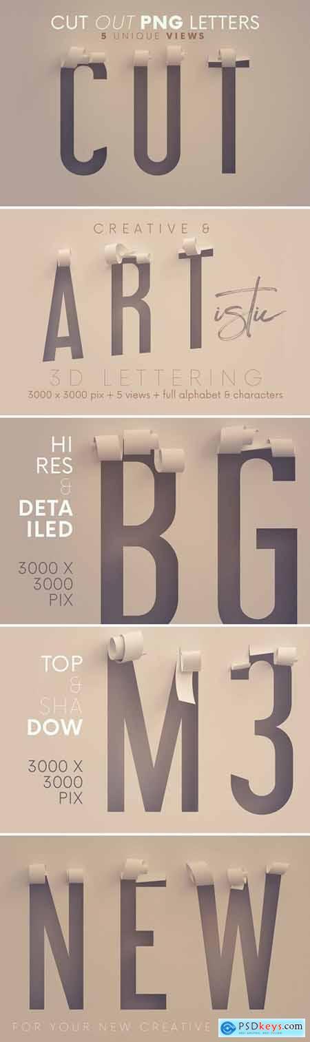 Cut Out Paper - 3D Lettering