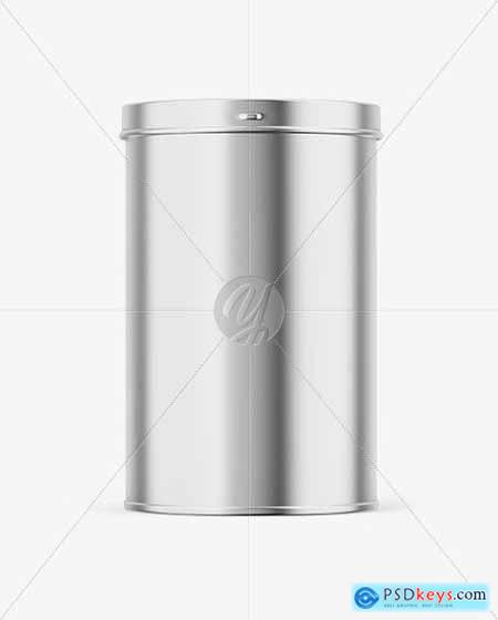 Glossy Metallic Tin Can Box Mockup 82806