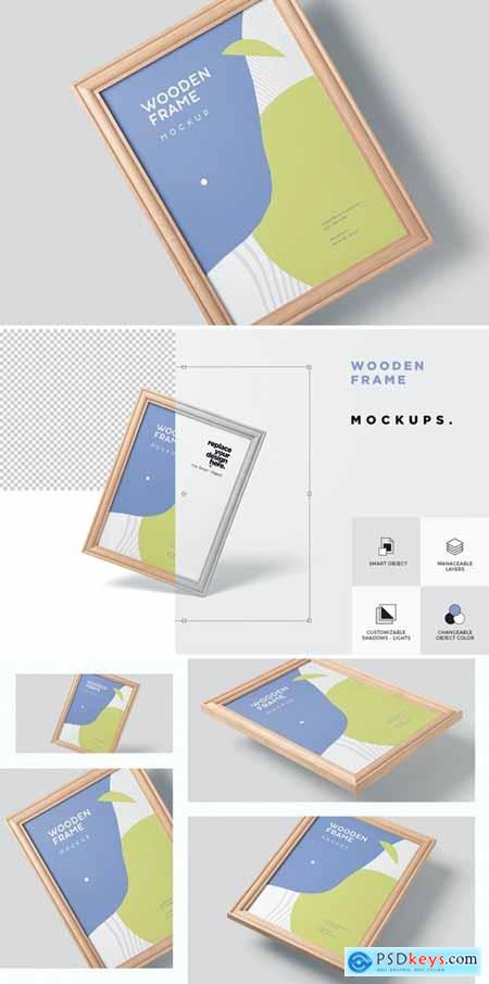 A3 Wooden Picture Frame Mockups