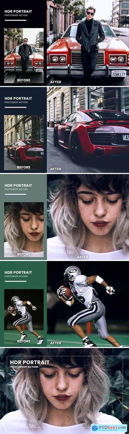 HDR Portrait Photoshop Action