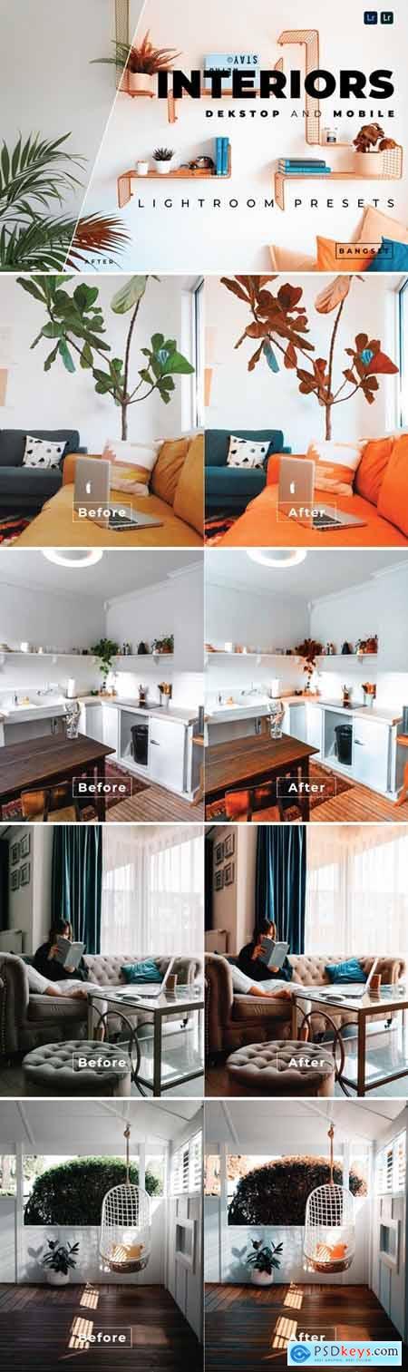 Interiors Desktop and Mobile Lightroom Preset