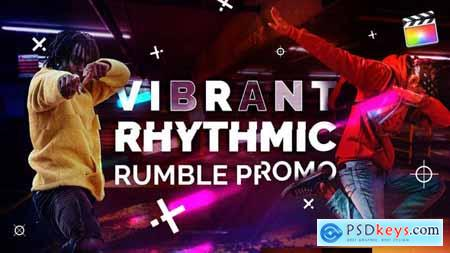 Vibrant Rhythmic Rumble Promo For Final Cut & Apple Motion 32063616