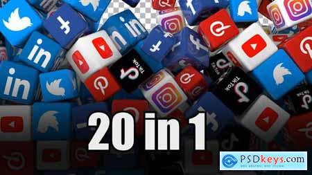 Social Media Icons Transition Pack (Pack of 20) 30973598